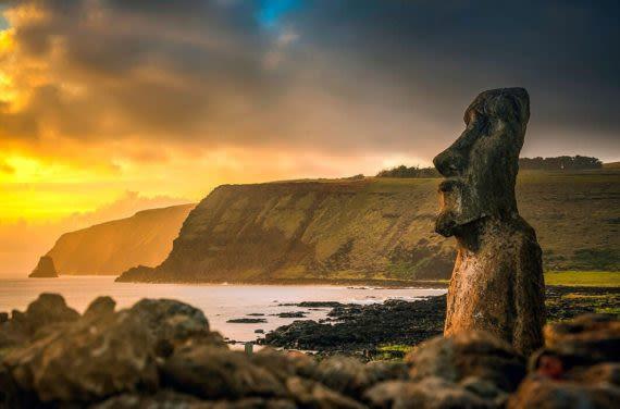 Moai head easter island