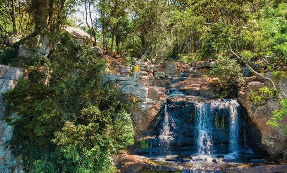 the salto suizo waterfall in paraguay