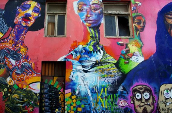 street mural art in valpo chile