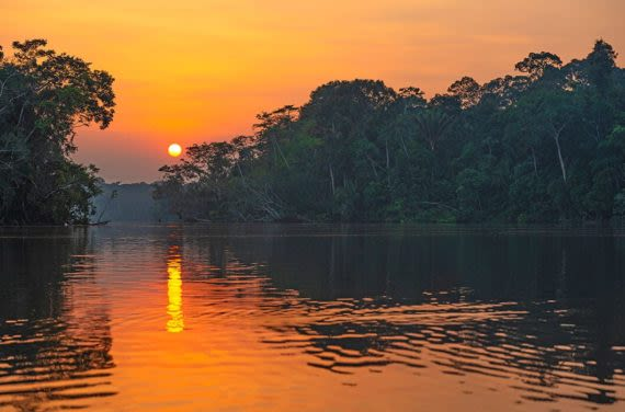 Dramatic Sunset in the Amazon