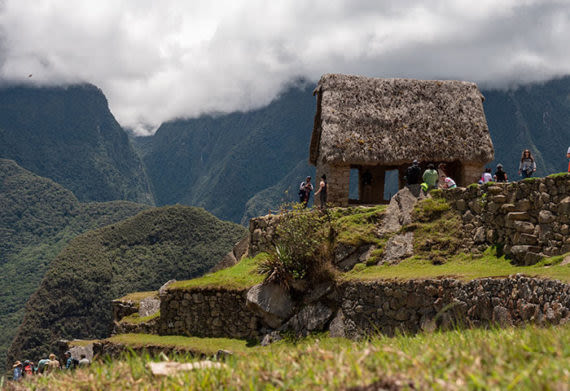 the watchman hut at machu picchu
