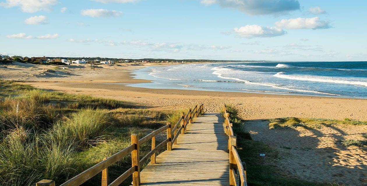 Quaint beach boardwalk