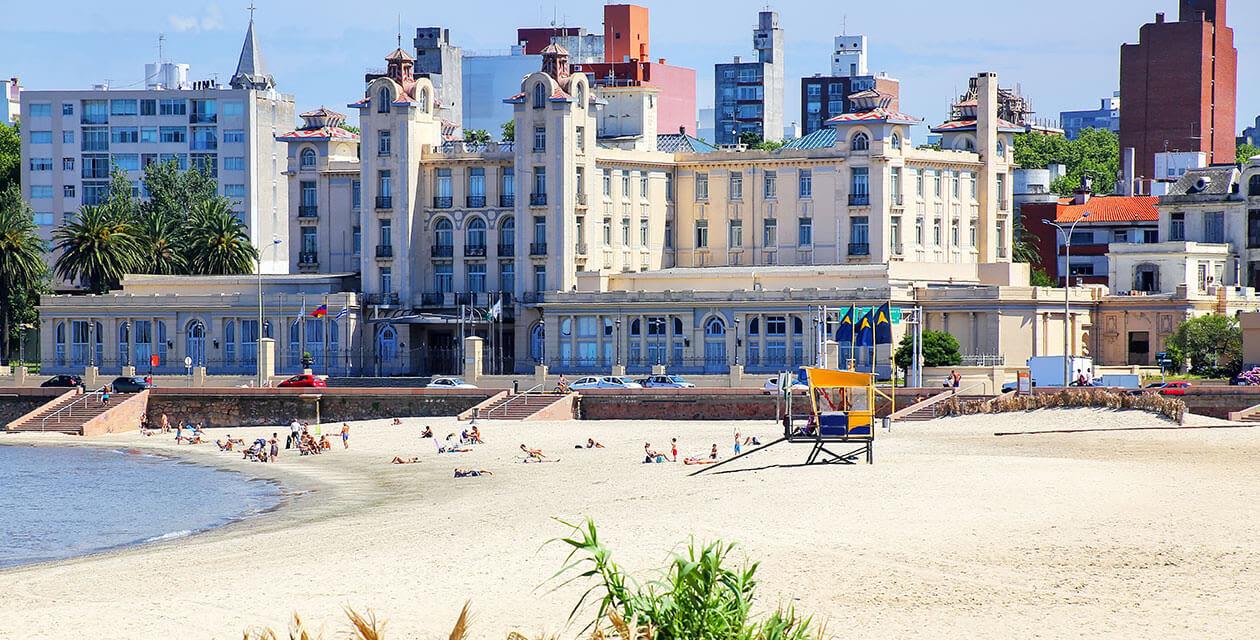 Large building on Uruguay beach in piriapolis