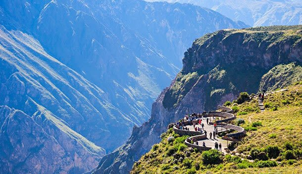 aerial view of the colca canyon