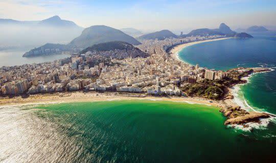 aerial view of rio de janeiro and beaches