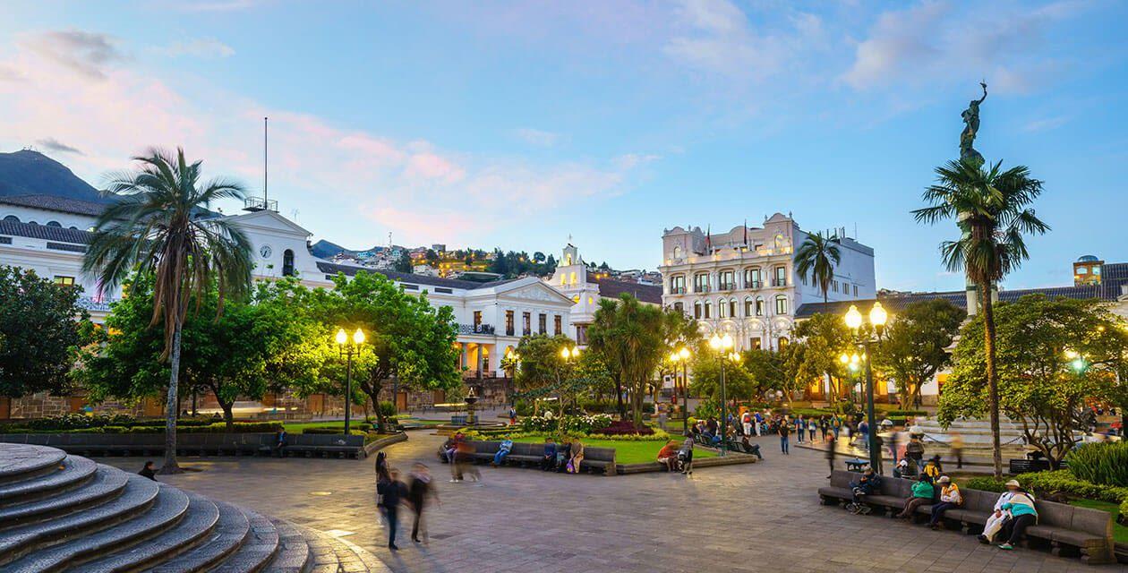 historic town and plaza in quito ecuador