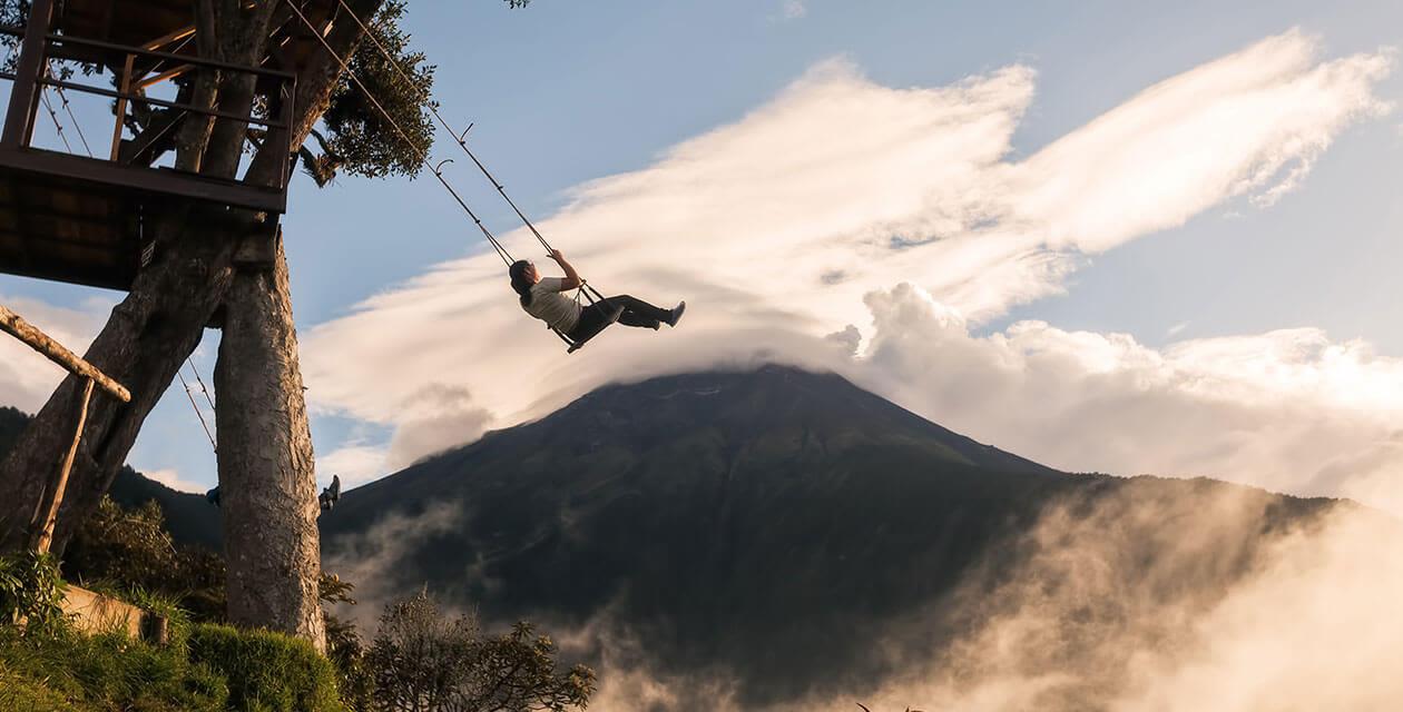 person on the casa del arbor swing