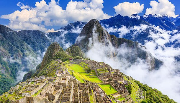 view of machu picchu on a sunny day