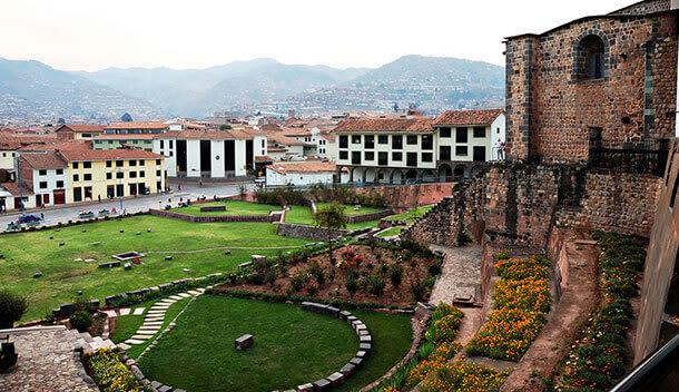 outside the koricancha ruins