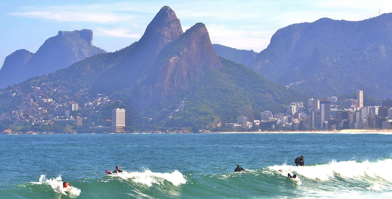 surfers in rio de janeiro
