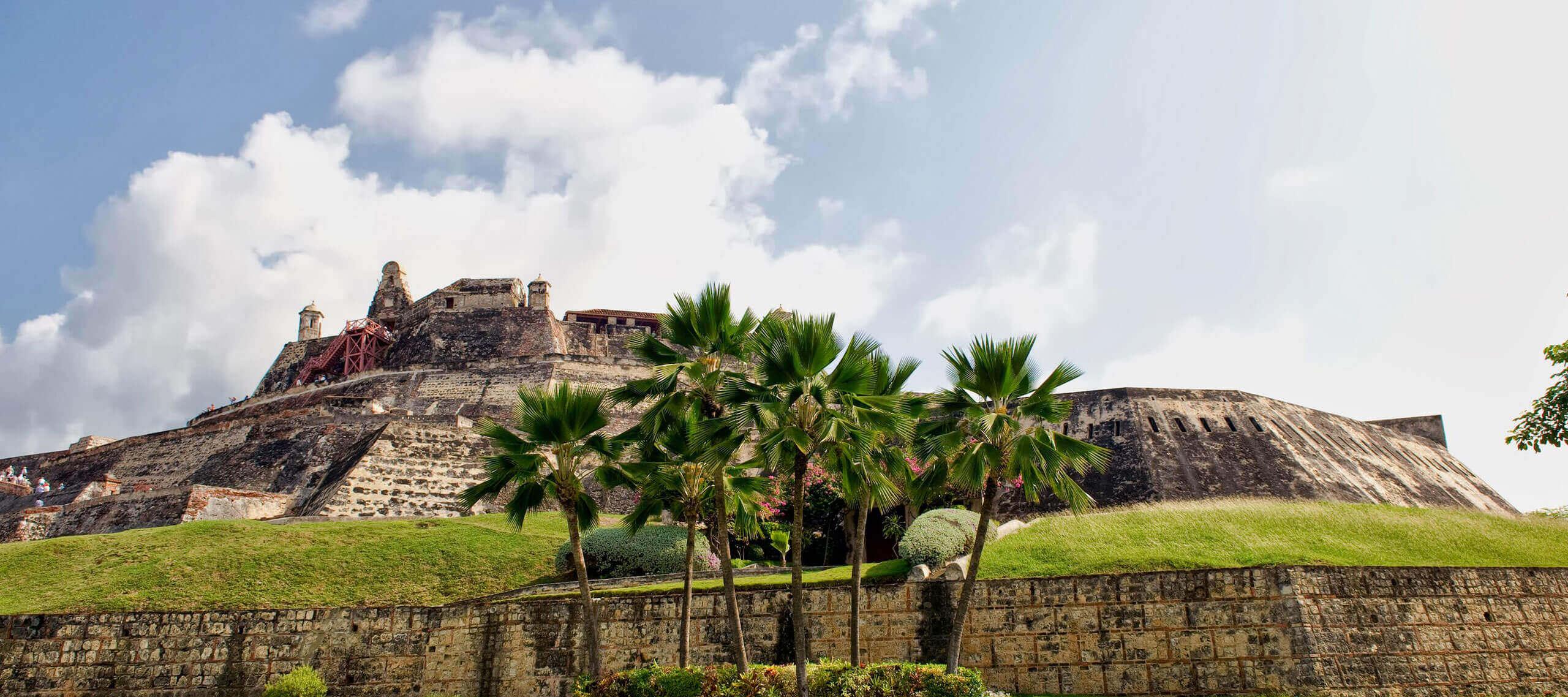 Cartagena fort on hilltop