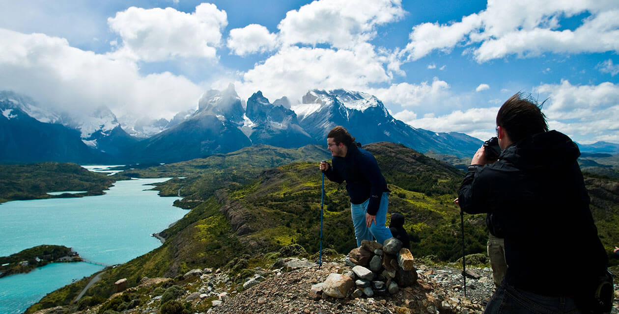 guys taking photos in torres del paine